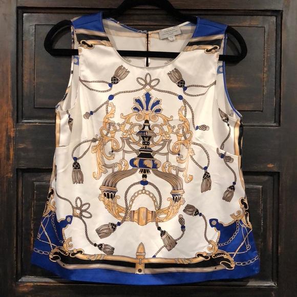 80c5967e9d8 Arthur S Levine Tahari Boss Lady Satin shirt. M 5bdfdedba5d7c690b2cf9e1b